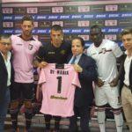 Firma contratto Di Maria U.S. Città di Palermo
