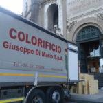 Foto della consegna delle opere al complesso del vittoriano